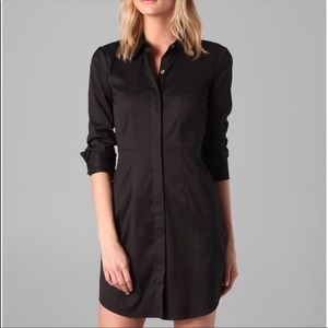 Theory Impeccable Kadiem Shirtdress 2 Black